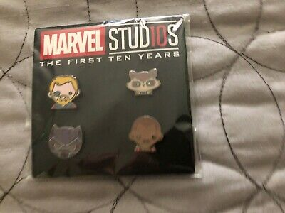 Disney Movie Rewards DMR Marvel Studios 10th Anniversary Emoji Pins Set 4 SDCC