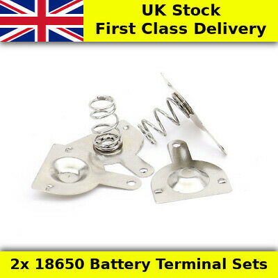 2x 18650 Cell Battery Terminals - UK First Class