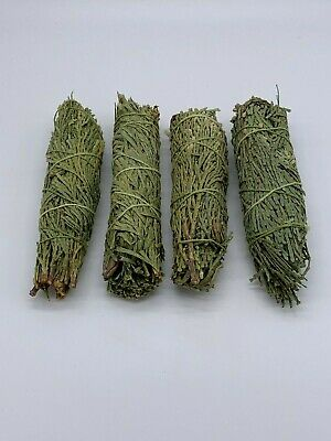 4x Cedar Sage Smudge Sticks / Wands - House Cleansing Negativity Removal