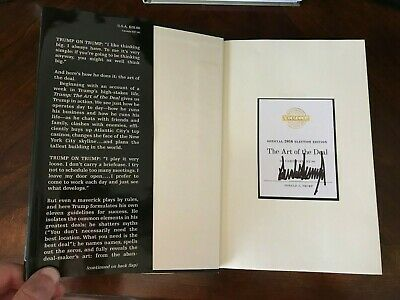 PRESIDENT DONALD TRUMP ART OF THE DEAL Signed Official 2016 Election Edition
