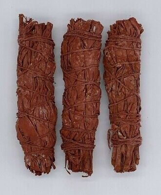 3X Dragons Blood Sage Smudge Sticks / Wands - Protection, Negativity Removal