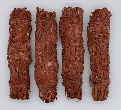 4X Dragons Blood Sage Smudge Sticks / Wands - Protection, Negativity Removal