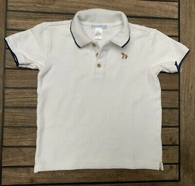 Janie and Jack Toddler Boy Polo Shirt White ~ Size 4T 4
