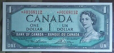 1954 Bank Of Canada $1 *XF Replacement Chc UNC