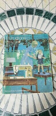 Vintage1969 SINGER SEWING MACHINE Touch & Sew Model No. 648 Instructions Manual
