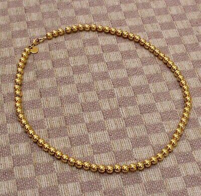 b3c5491d41236 AUTHENTIC TIFFANY & CO. 18K YELLOW GOLD 5.5mm BALL HARDWEAR COLLECTION  NECKLACE