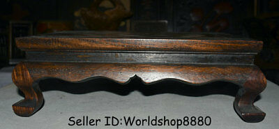 """14.4"""" Antique Old China Huanghuali Wood Inlay Shell Dynasty Fish Desk Furniture"""