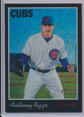 Anthony Rizzo 2019 Topps Heritage Chrome Black Refractor /70