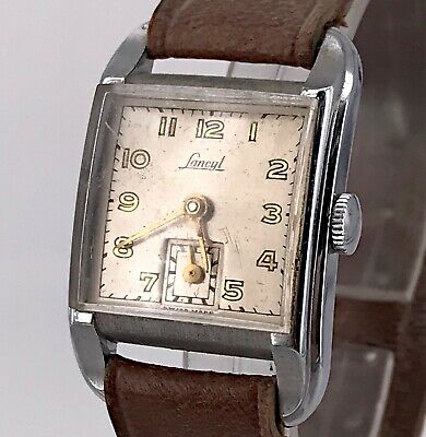 Lancyl Vintage Hand Manual Art Deco Watch Watch Rope Doesn'T Works 22,5 mm 3WC