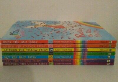 Rainbow Magic Lot of 7 Books by Daisy Meadows 1 Complete Set Books 1-7