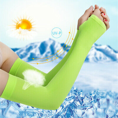 1Pair Sunscreen Bands Ice Fabric Arm Sleeves Warmers Summer Sports UV Protection