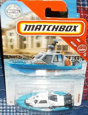 Tinforcer Police-Boot Matchbox MBX Rescue 12//30 1:64 OVP nuevo 2018