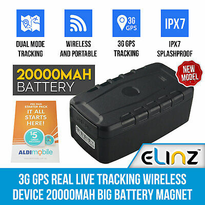 Wireless 3G GPS Tracker Real Live Tracking 20000mAh Long Life Magnet ALDI SIM