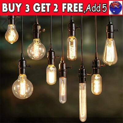 LED Filament Vintage Amber Glass Retro Light Bulb E27 / 40W Screw Edison Globe I