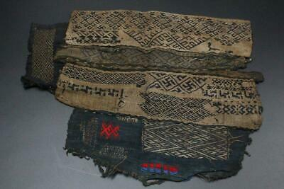 VG102 RARE Chinese Antique minority Miao people cloth sample 母子花 #Guizhou