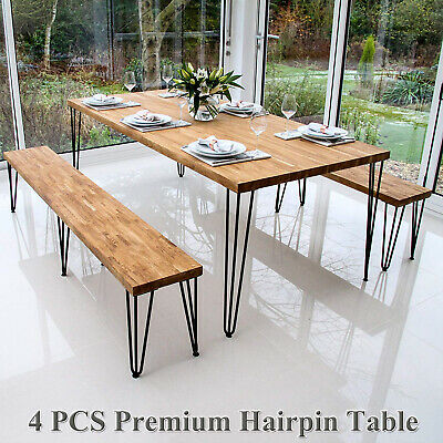 4x Heavy Duty Hairpin Table Legs – Superior Double Steel Welding with Free Screw