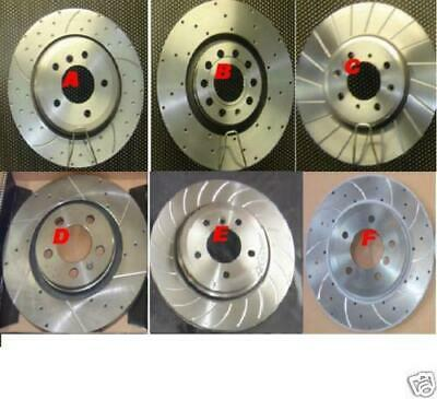 Rover 220 Turbo Drilled Grooved Brake Discs Mintex Pads