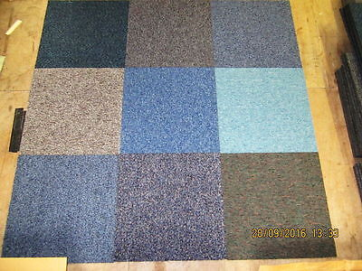 "Random Mixed Hard Wearing Carpet Tiles Brand New ""NOW ONLY"" £25 per box of 20"