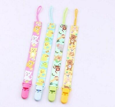 Baby Anti-lost Pacifier Chain Holder Dummy Cute animal Soother Pacifier Clip DIY