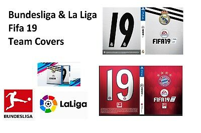 FIFA 19 La Liga Bundesliga Club Team Covers XB1 PS4 PS3 PC X360 Xbox Game Shirt