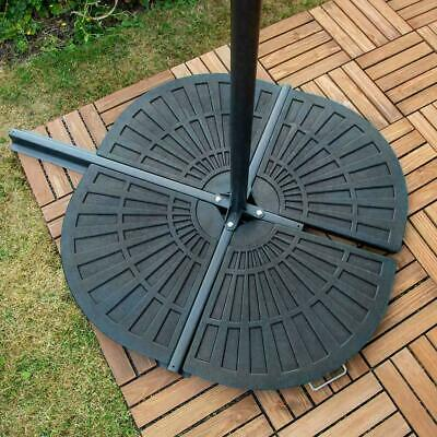 Cantilever Parasol Base Weights 4 Piece Banana Umbrella Stand Holder Fan Shaped