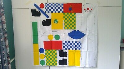 Cut and Sew Printed Fabric Sheet - Claude the Clown Cut Out Toy - 100% cotton