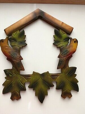 Cuckoo Clock spares / SOLID WOODEN CARVED FRONT FROM A OLD CUCKOO CLOCK