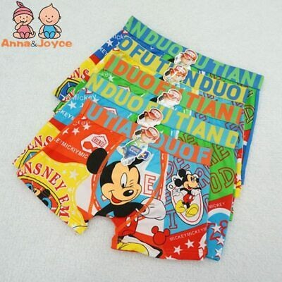 5pcs Children Boxer Kids Underwear Boys Panties Cartoon Spiderman Mickey Mouse