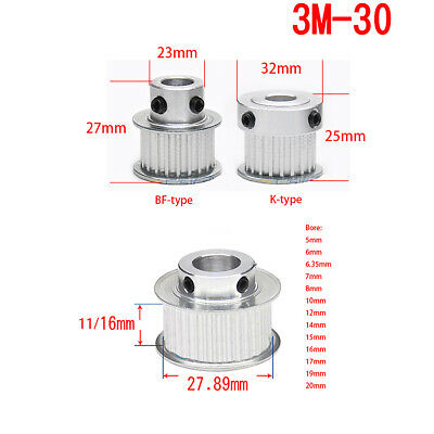 HTD3M Pulley Synchronous Wheel 30T Bore 5mm-20mm for 10/15mm Belt 3D Printer CNC