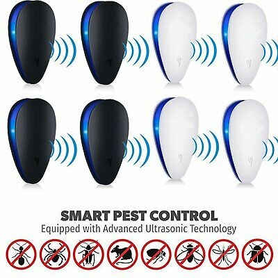 4X Electric Ultrasonic Insect Repeller Ant Mice Bug Pest Spider Mosquito Killer