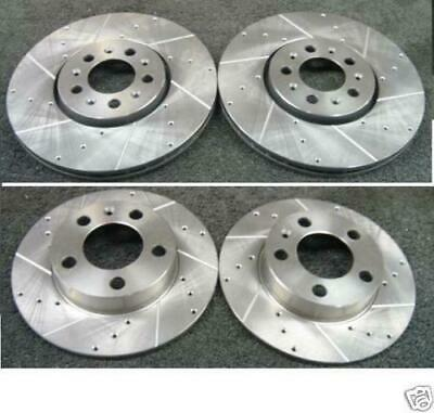 Golf Mk4 Gti Turbo Front & Back Drilled Grooved Brake Discs