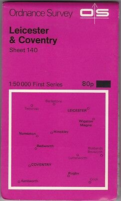 Ordnance Survey Landranger Map Sheet 140 Leicester & Coventry OS First Series