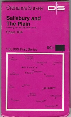 Ordnance Survey Map Sheet 184 Salisbury & The Plain 1974 First Series OS