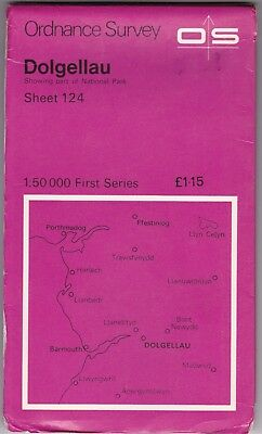 Ordnance Survey Landranger Map Sheet 124 Dolgellau OS First Series