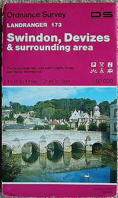 Ordnance Survey Landranger Map Sheet 173 Swindon, Devizes & Chippenham 1993 OS