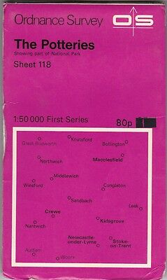 Ordnance Survey Landranger Map Sheet 118 The Potteries OS First Series