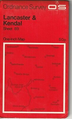 Ordnance Survey One Inch Map 89 Lancaster & Kendal 1:63360 1972 Version OS UK