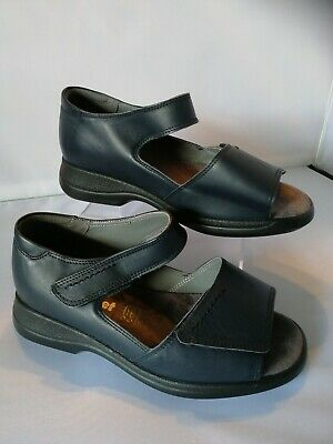 Ladies Cosyfeet Sandal shoes size 5 extra roomy Blue Sunrise leather