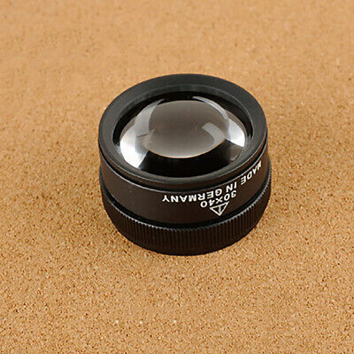 KF_ 30X Optical Glass Lens Magnifier Magnifying Glass for Jewelry Coins Stamps