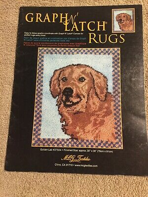 Set of Two MCG Textiles Graph N Latch Rug Patterns #37504 & 37512 Great Shape