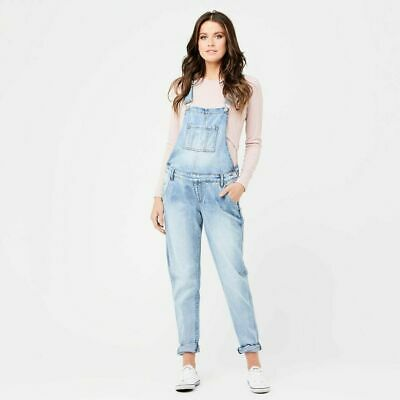 Ripe Maternity Denim Overalls - Pale Blue