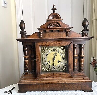 Nice Wooden Mantel Bracket Clock Collection Only Folkestone Kent
