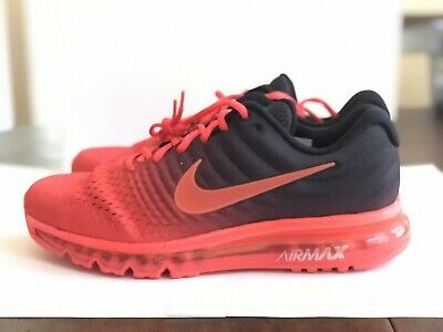 Nike Air Max 2017 Red Black Crimson Running Shoes 849559-600 Size 11