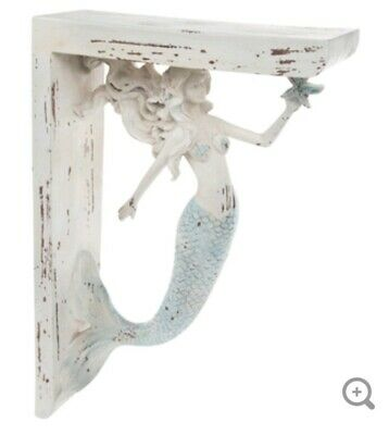 LARGE RUSTIC CORBELS / BRACKETS NAUTICAL MERMAID CORBELS BEACH & SEA Set Of 2