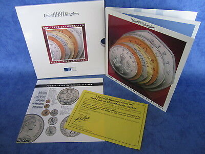 1991 Royal Mint UK Brilliant Uncirculated Coin Collection