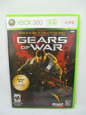 Gears Of War Xbox 360 Game Complete With Bonus Disc!