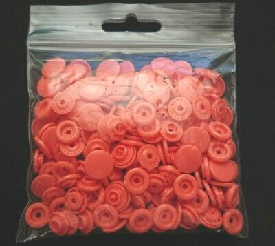 50 Sets Original KAM SNAPS - B17 Coral - Size 20 T5 Poppers Fasteners Studs