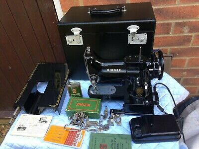 1954 Vintage Singer 222K Free Arm Featherweight Sewing Machine with Instructions