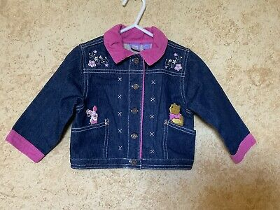 DISNEY WINNIE THE POOH Jean Jacket ADORABLE Girls Size 18 Months