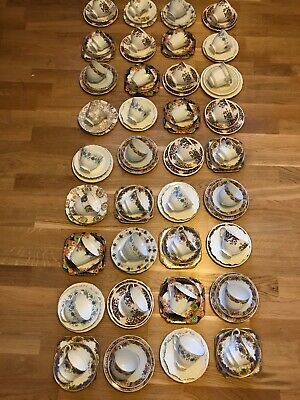 Job Lot Vintage 36 China Trios Cups Saucers Tea Plates Some Mismatched